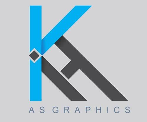 KH Alphabet Logo Design Vector