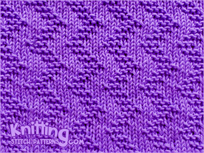 Basic knit and purl stitches. Garter Stitch Zigzag knitting stitch