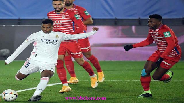 شاهد ملخص مباراة ريال مدريد وغرناطة (2-0) الدوري الاسباني