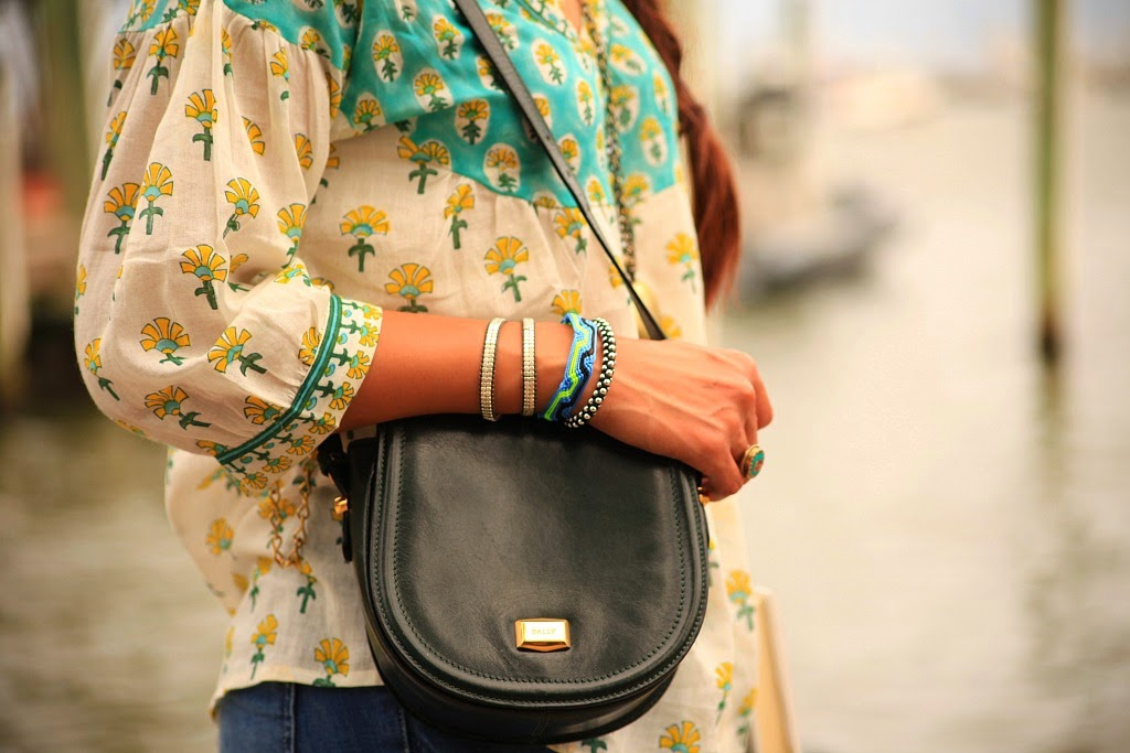 Blouse - Kilol, Jeans - Zara, Bag - Vintage, Jewelry - Here & There, Footwear - Chinese Laundry, Tanvii.com