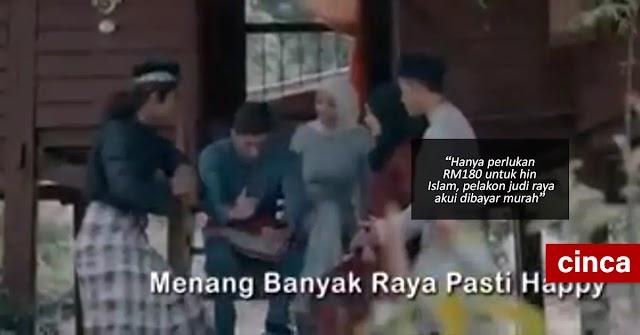 Hanya perlukan RM180 untuk hina Islam, pelakon judi raya akui dibayar murah