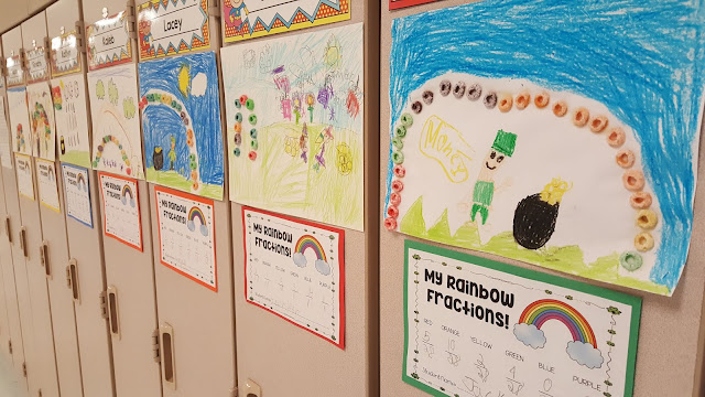 hands-on fraction activity for St. Patrick's Day
