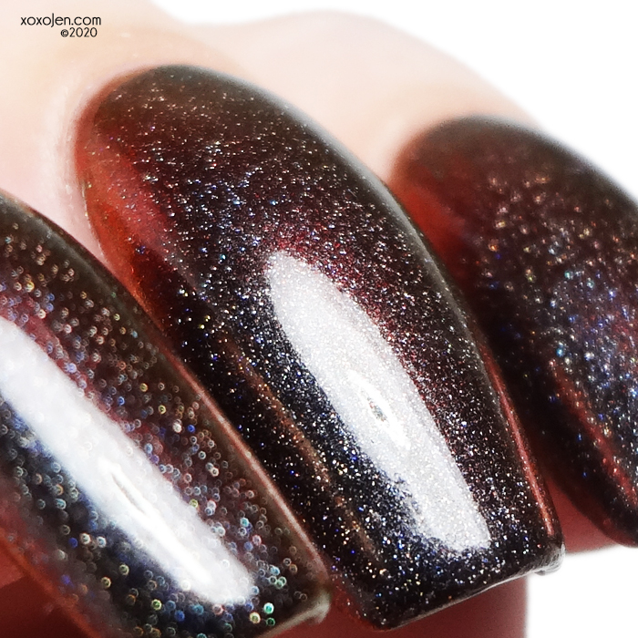 xoxoJen's swatch of KBShimmer Much Lava To You