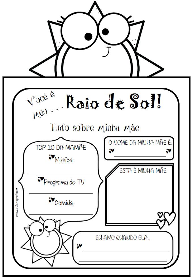 DIA DAS MÃES - Cartão para imprimir