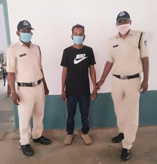 हाथ मे फालिया लेकर लोगो मे भय फैलाने वाला गिरफ्तार, कोर्ट ने भेजा जेल