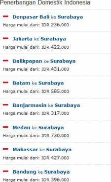 Tiket Pesawat Murah Ke Surabaya Sub Wisesatravel Com