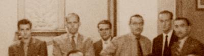 Àngel Ribera, Agustín Catalán y Jaume Lladó en 1951