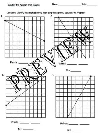 The Math Magazine: Midpoint Formula Worksheets with Answer
