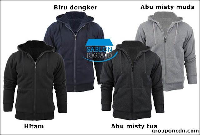Jaket Sweater Sablon Satuan