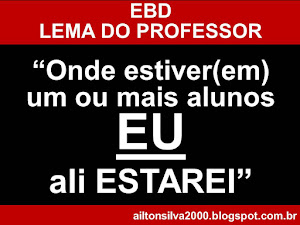 Lema do Professor de EBD