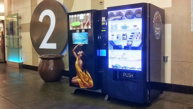 Maquina expendedora de caviar en California, USA