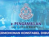 Jawatan Kosong Konstabel Polis DiRaja Malaysia PDRM
