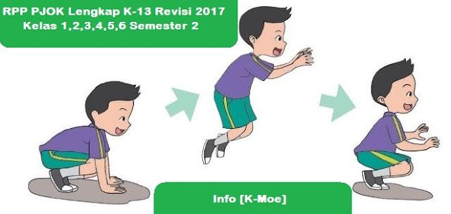 RPP PJOK Lengkap K-13 Revisi 2017 Kelas 1,2,3,4,5,6 Semester 2