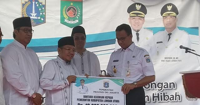 Gubernur Anies Terbang ke NTB, Resmikan Sekolah Bantuan Pemprov DKI