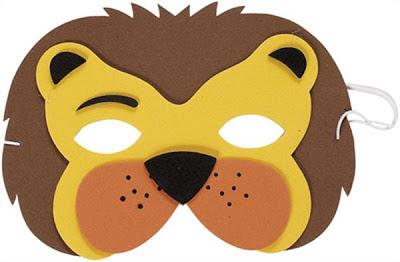 máscara de león en EVA