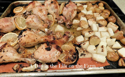 Mediterranean Chicken Legs Sheet Pan Dinner