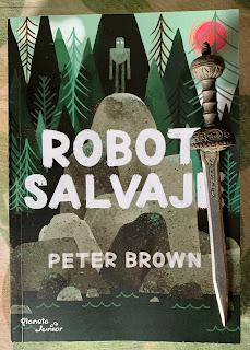 Portada del libro Robot salvaje, de Peter Brown