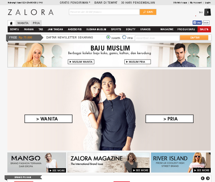 Belanja Fashion di Zalora