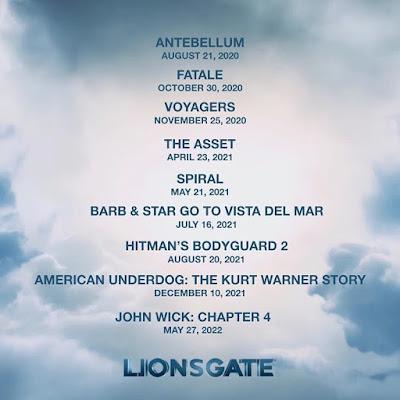Devido à Pandemia Covid-19, Lionsgate Anuncia Novas Datas De Estreias dos Seus Filmes nos Estados Unidos