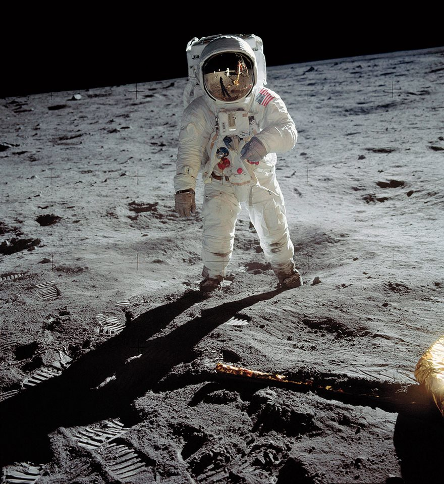 #12 A Man On The Moon, Neil Armstrong, Nasa, 1969 - Top 100 Of The Most Influential Photos Of All Time