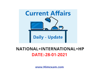 Daily Current Affairs 28 January  2021