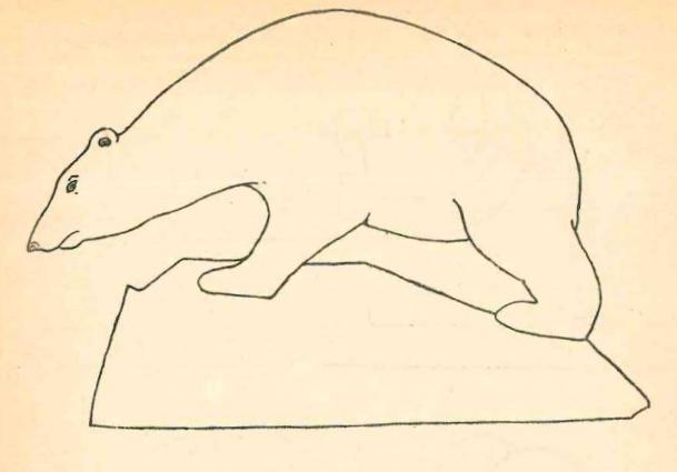 медведь на льдине - поделка на новый год