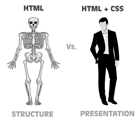 html vs. css in Hindi