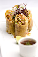 Pork belly spring rolls