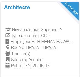 Architecte ETB BENANIBA WAHID TIPAZA
