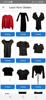 yourcloset app least worn clothes preview