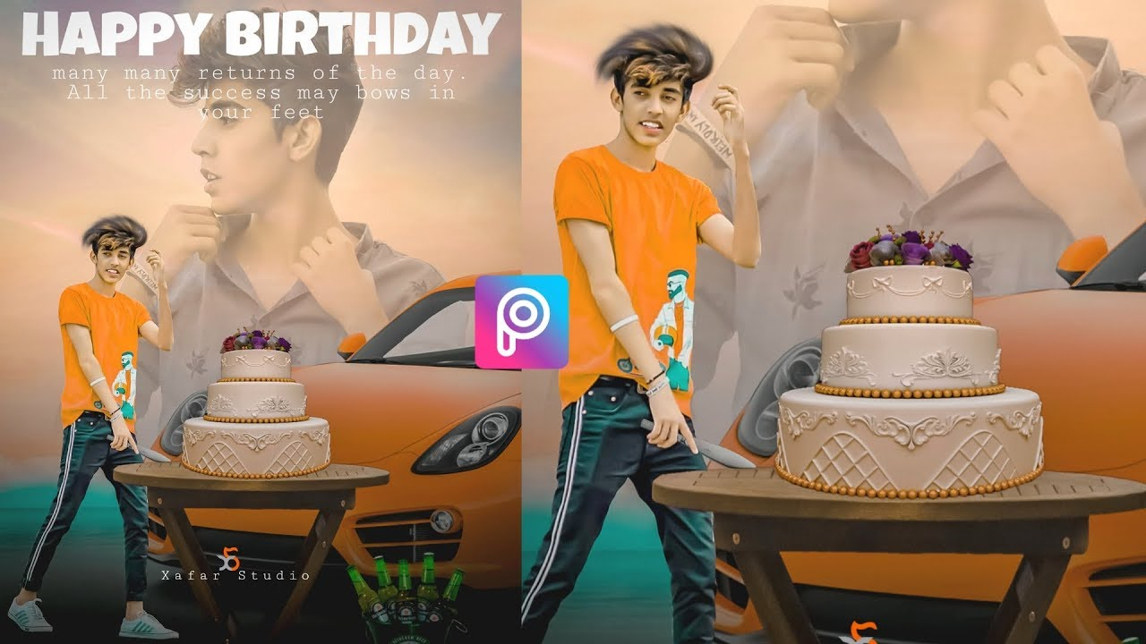 Happy Birthday Photo Editing Concept Xafarstudio Com