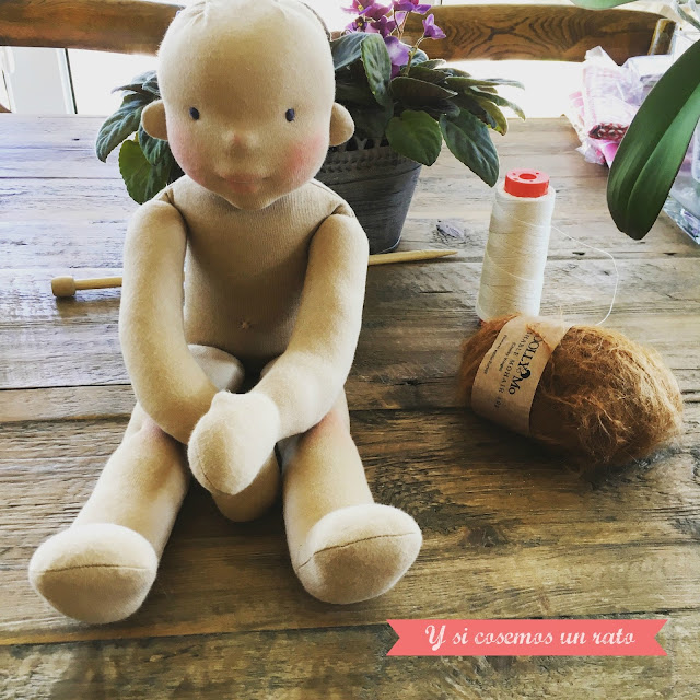 hacer muñeca waldorf, making waldorf doll