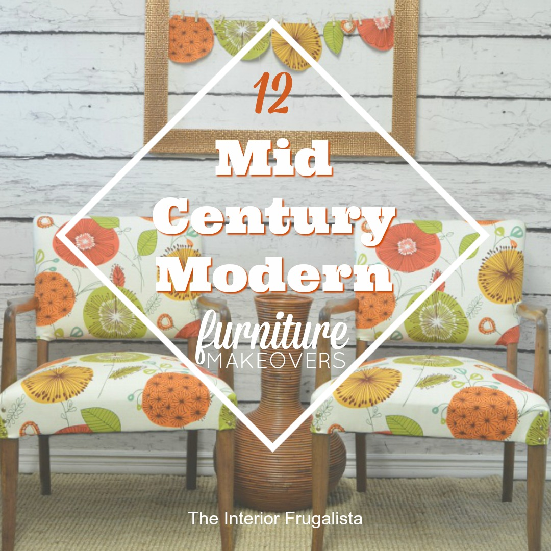 12 fun mid century modern furniture makeovers