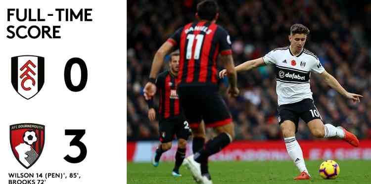 Hasil Fulham vs Bournemouth Skor Akhir 0-3