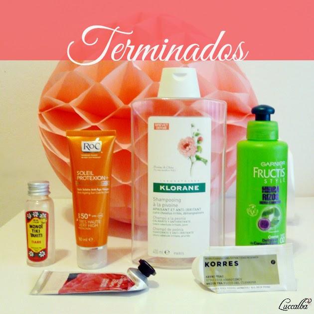 Productos cosméticos y de higiene acabados.