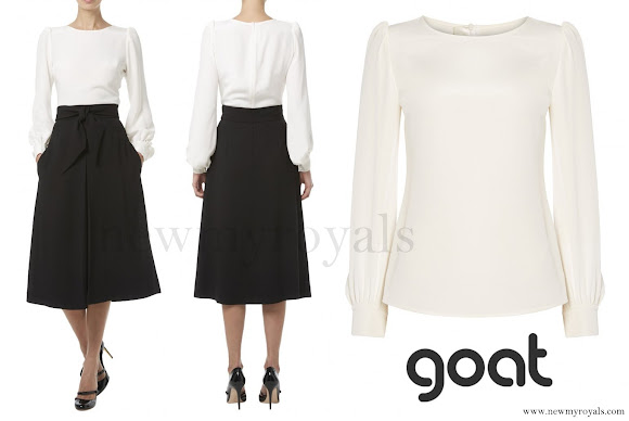 Kate Middleton wore Goat Fashion binky blouse