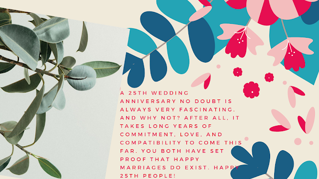 25th wedding anniversary wishes for friends