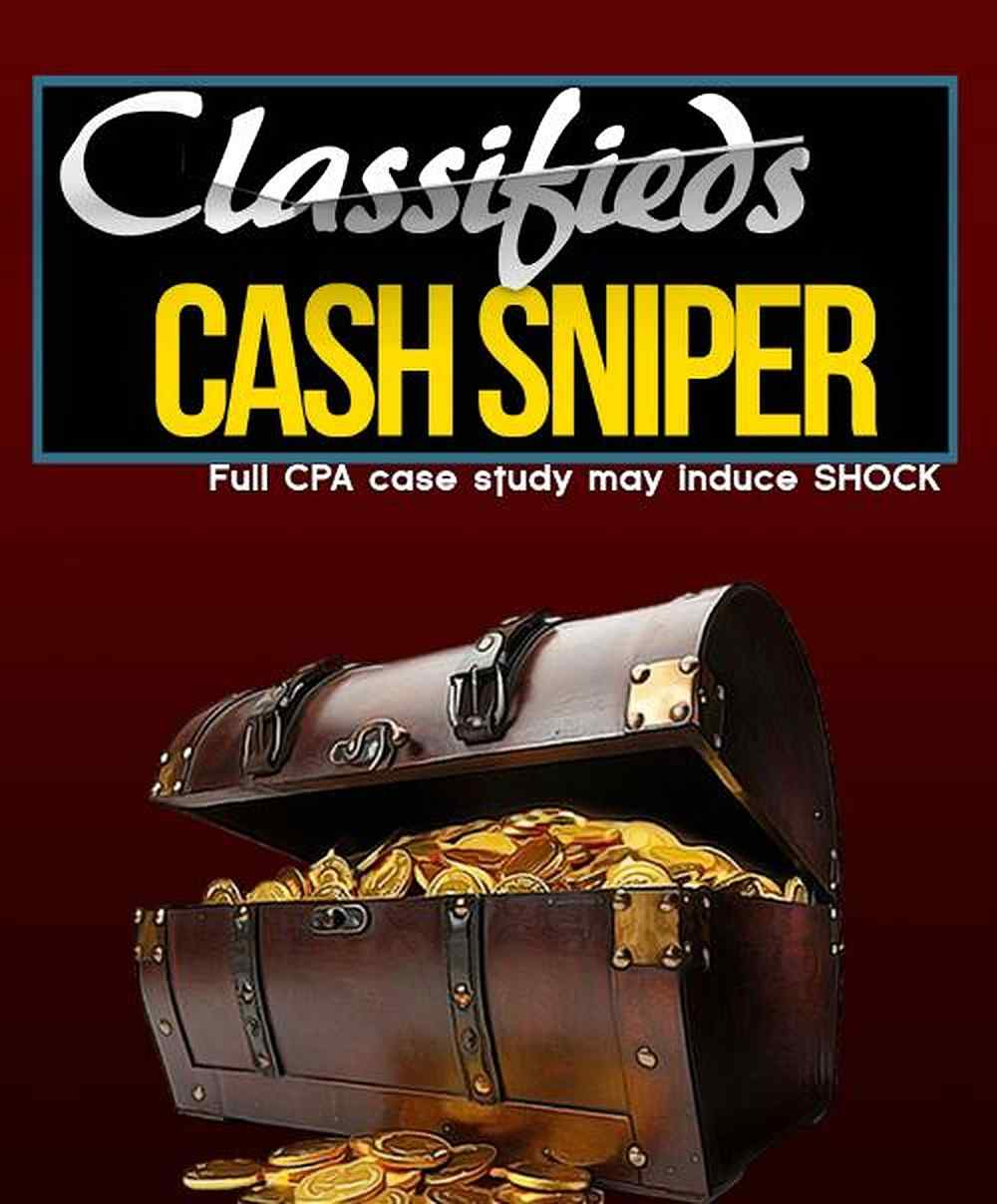 Classifieds Cash Sniper – Full CPA Case Study May Induce Shock