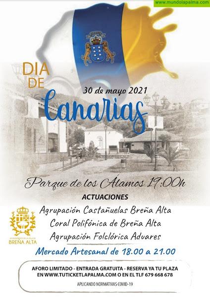 El Ayuntamiento de Breña Alta se suma a la celebración del Día de Canarias con la música popular canaria y el Mercado de Artesanía