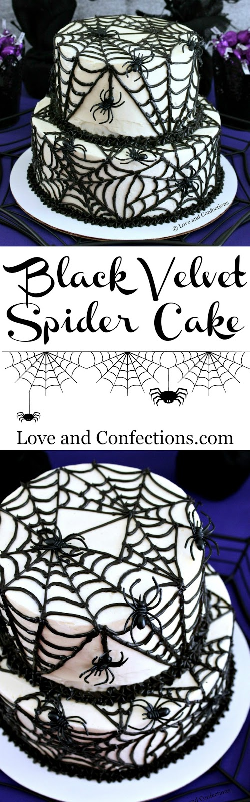 Love and Confections: Black Velvet Spider Cake