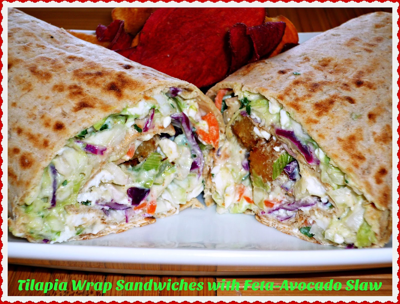 The weekend gourmet tilapia wrap sandwiches with feta for Fish stick sandwich