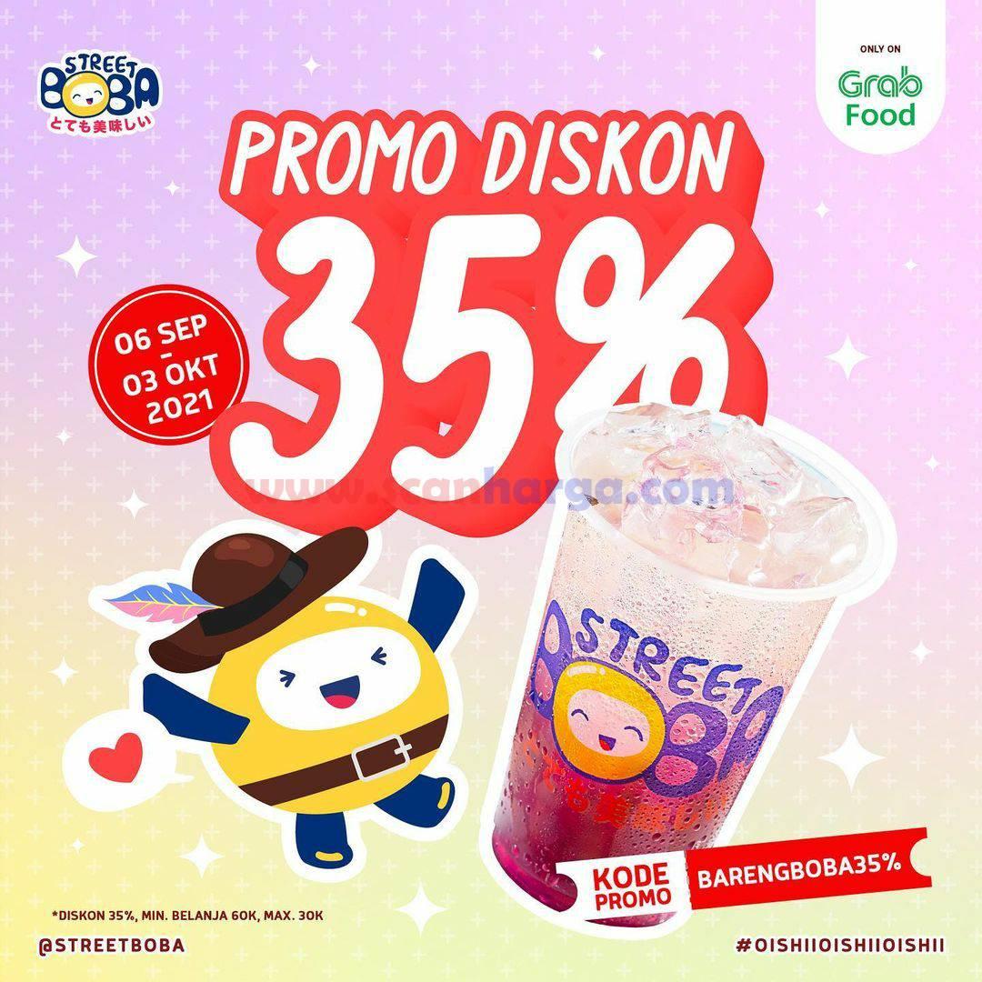 STREET BOBA Promo DISKON 35% only on GRABFOOD
