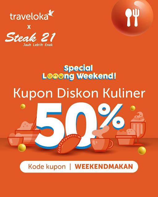 #Steak21 - #Promo Kupon Kuliner Diskon 50% Dari Traveloka (s.d 10 Maret 2019)