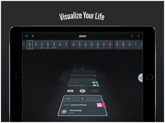 Vantage Calendar , Apple's free app of the week is a just a simple and easy calendar app. Built to be highly visual and customizable for the best possible view of your life. Welcome to a new perspective.