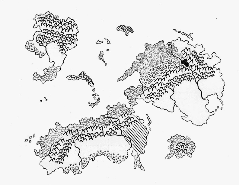 Cleaned-up scan of my old emerging game world