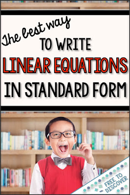 The best way to write linear equation in standard form