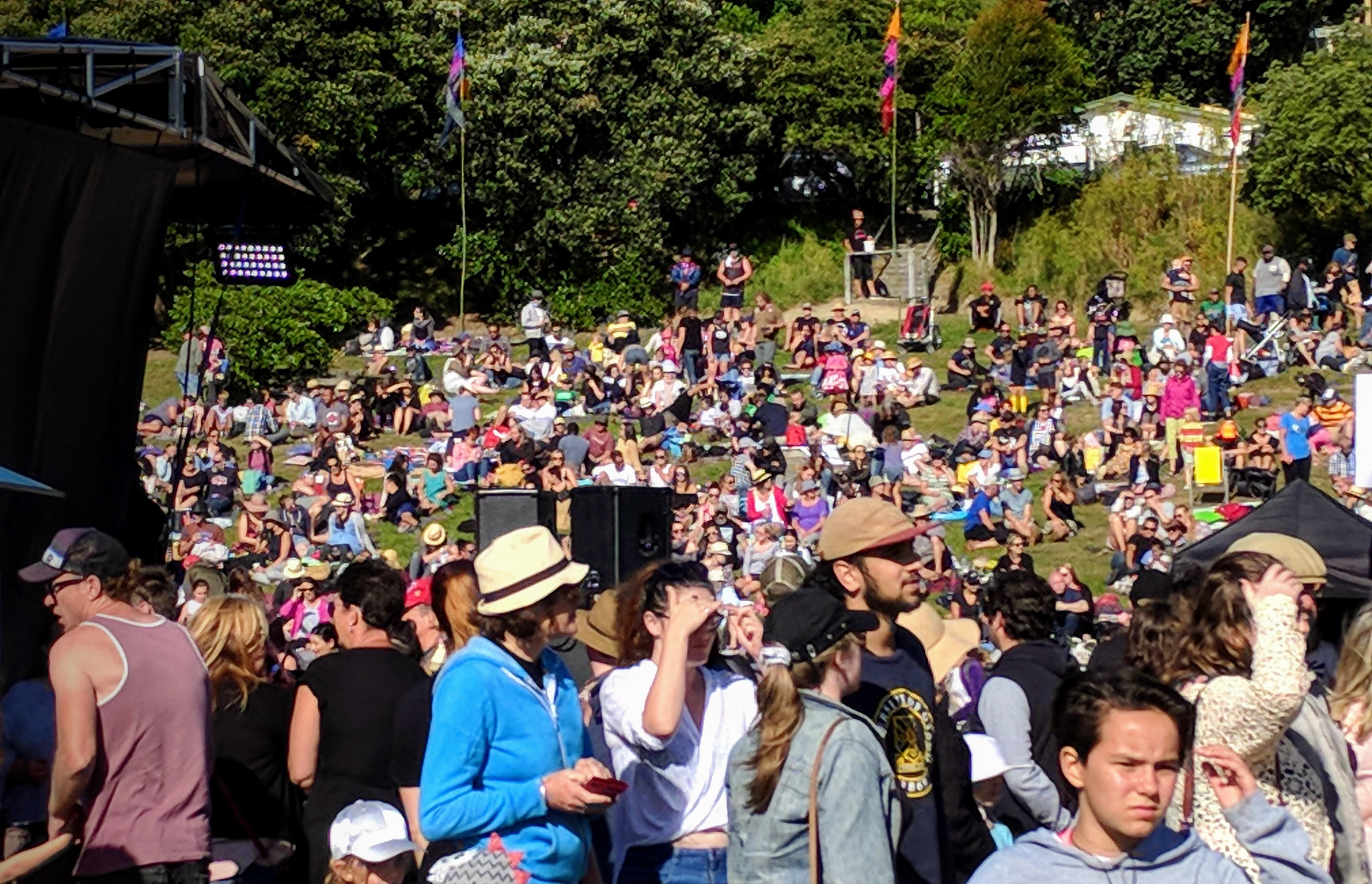 Crowds at Kotahi 2018 (Strathmore Park, Wellington)
