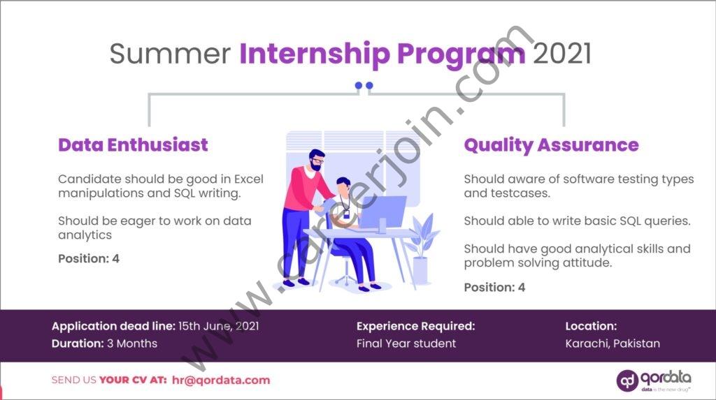 qordata.com - Qordata Pakistan Summer Internship Program 2021 in Pakistan