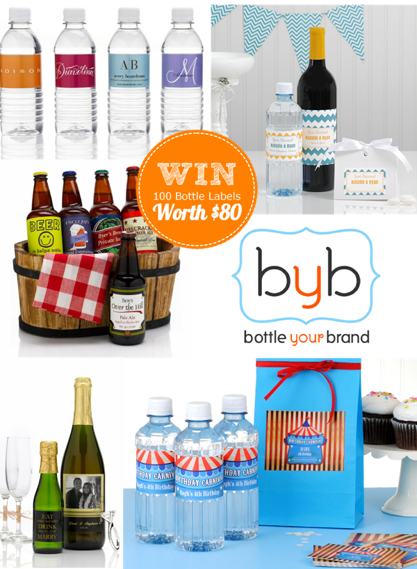 Giveaway | Win Custom Bottle Labels for Your Brand