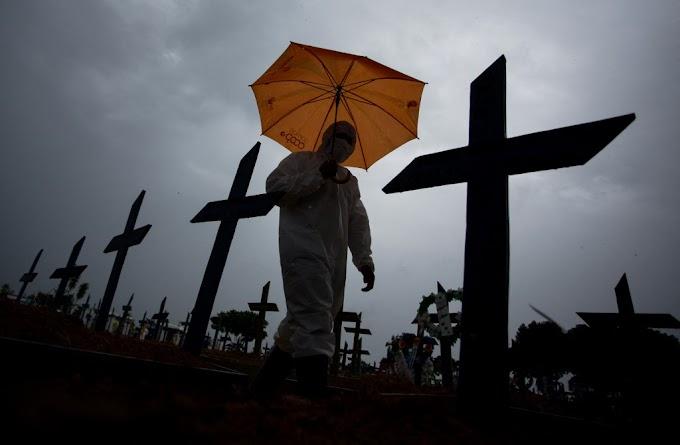 Mortes por Covid no Brasil sobem para 408,6 mil e casos para 14,7 milhões